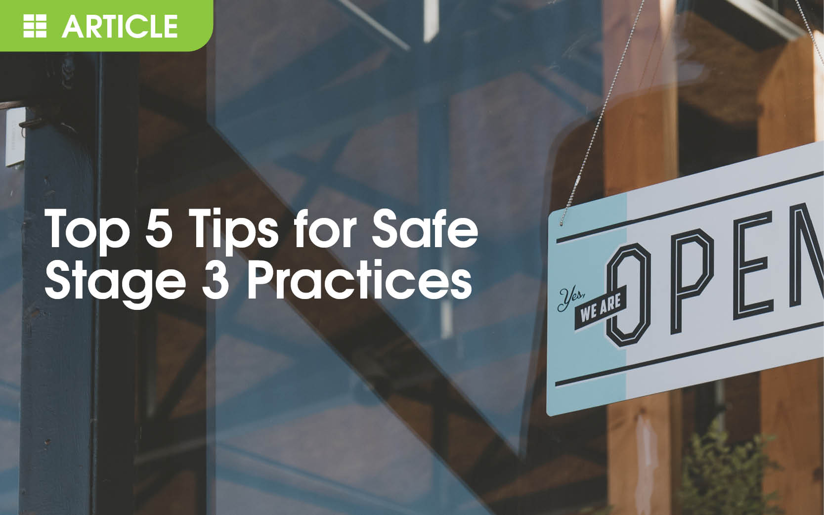 Top 5 tips for safe practices as we enter Stage 3 in Queensland