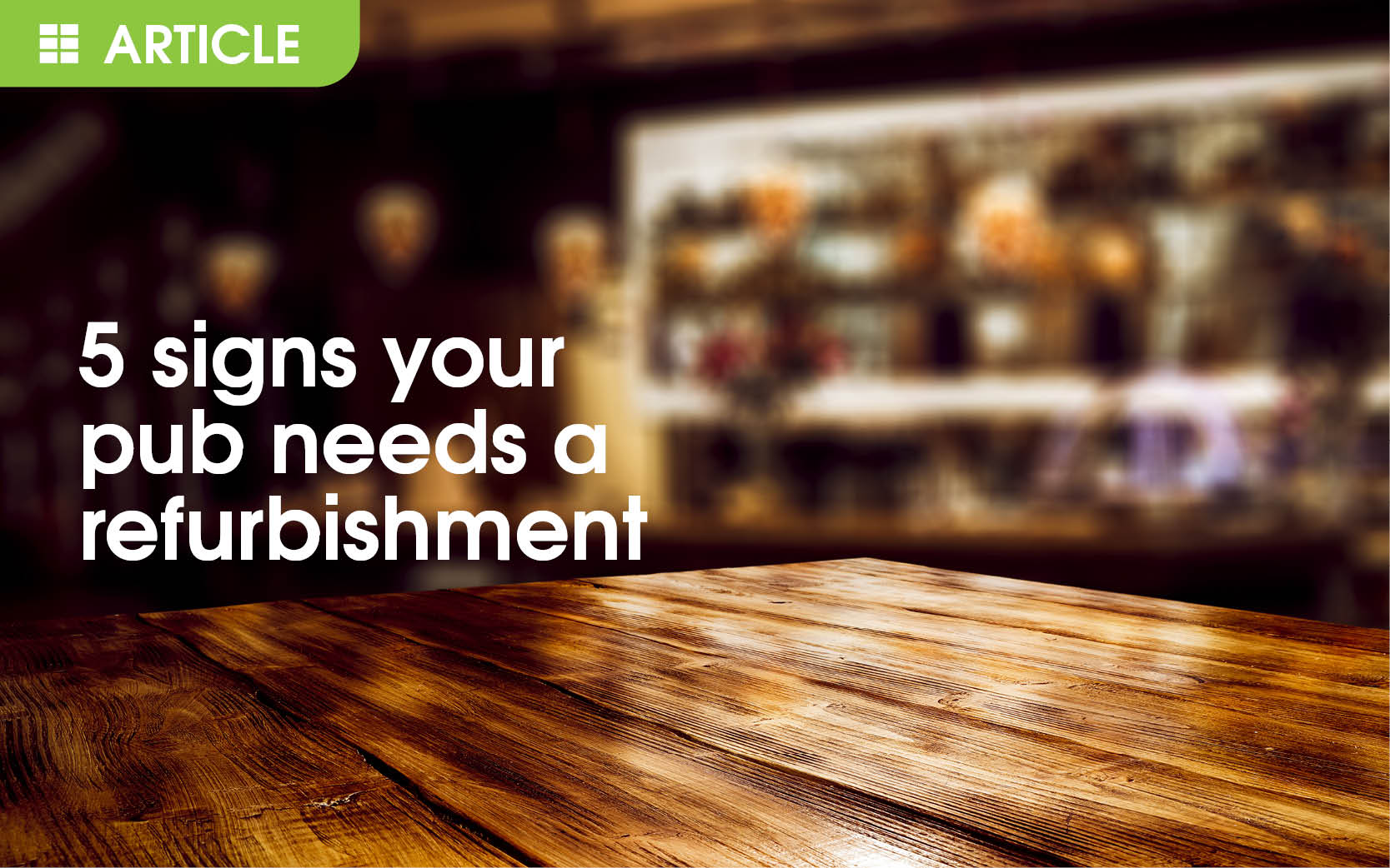 5 Signs Your Club Needs A Refurbishment